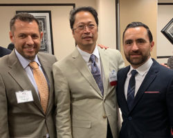 Consul General of The Philippines, The Honorable Jerril G. Santos with our VP of Business Development Erik Bladinieres and our Director of Relocation David Madrigal.